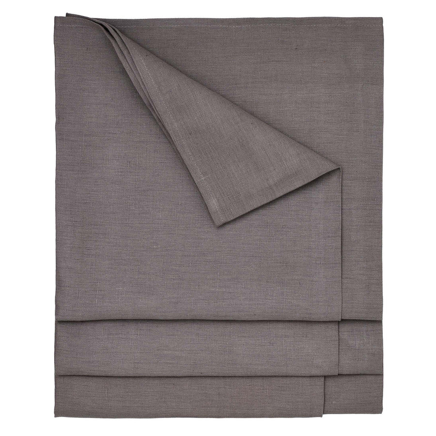 Solid Dyed Linen Cotton Union Tablecloth in Stone Grey Made in Canada