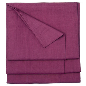 Linen Union Tablecloth- Heather Pink- Burgundy Ships from Canada (USA)
