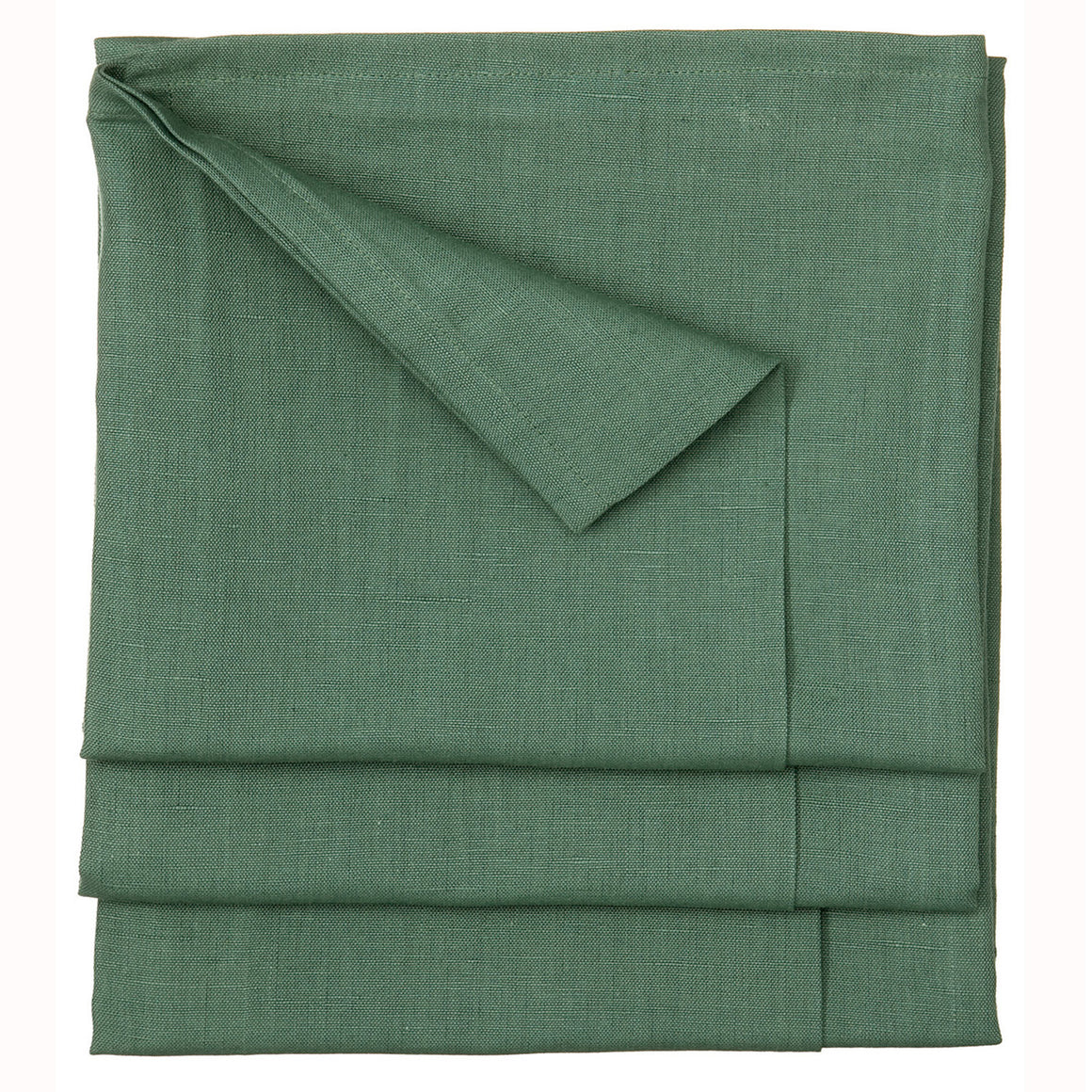 Solid Green Dyed Cotton Linen Tablecloth in Moss Green Stain Resistant finish ship from Canada (USA)