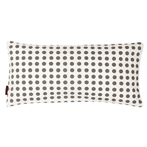 "London Polka Dot Pattern Linen Rectangle Decorative Throw Pillow in Stone Grey 30x60cm (12x24"")"