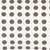 London Polka Dot Pattern Cotton Linen Home Decor Fabric by the Meter or by the yard for curtains, blinds upholstery in Stone Grey ships from Canada (USA)