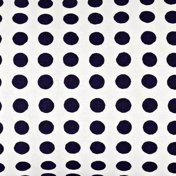 London Polka Dot Pattern Cotton Linen Fabric by the Meter in Aubergine Purple