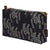 Maricopa Grass Floral Pattern Canvas Toiletry Travel or Wash Bag in Black & Grey Perfect for beauty and cosmetic needs while travelling Ships from Canada (USA)