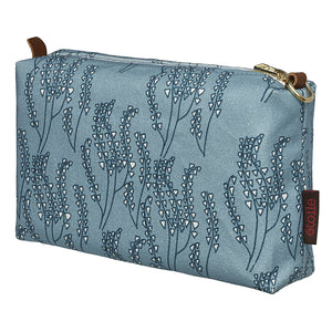 Maricopa Graphic Floral Pattern Canvas Toiletry Travel or Wash Bag in Light Chambray Blue Perfect for all your beauty or cosmetics needs while travelling Ships from Canada (USA)