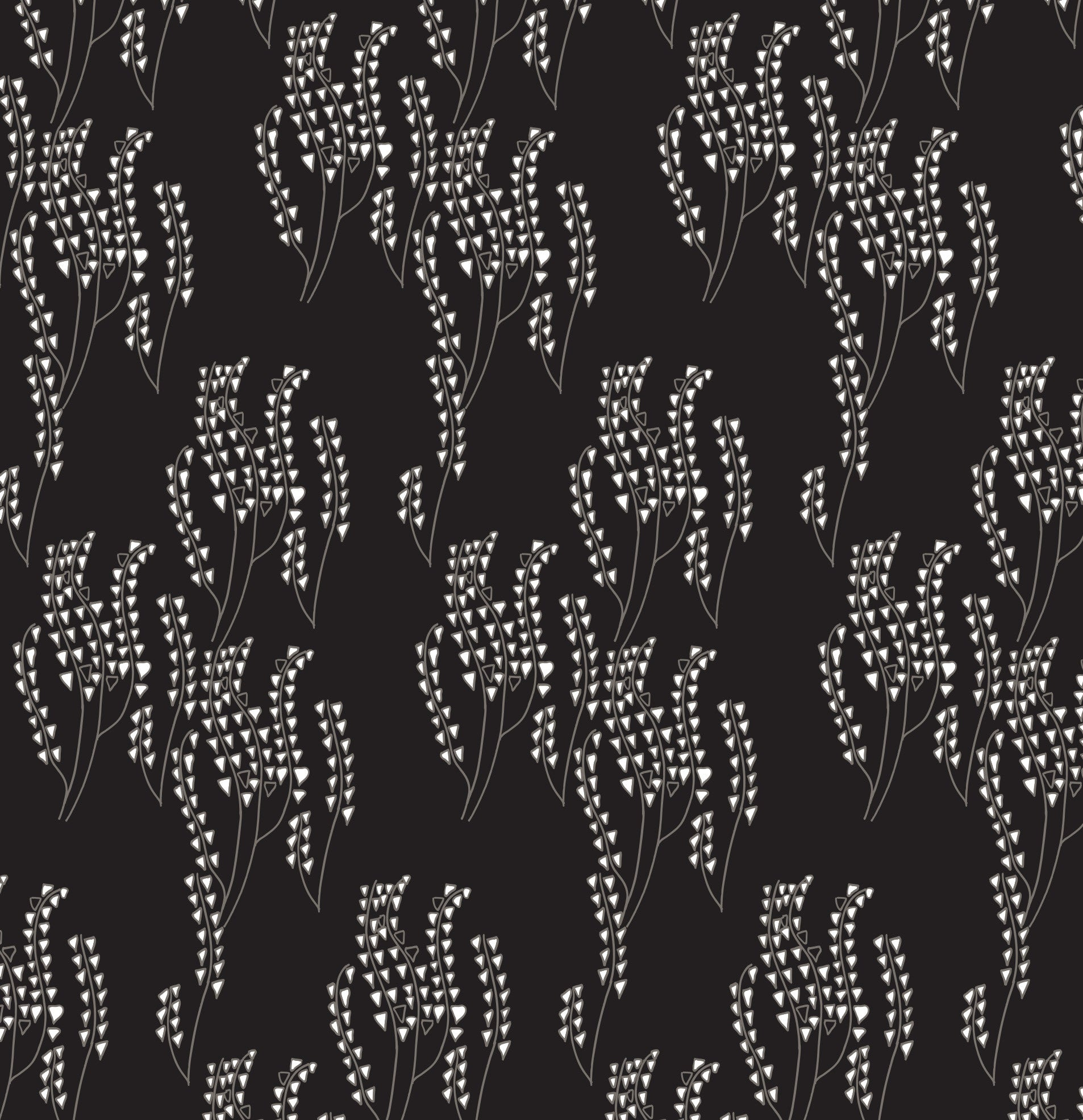 Maricopa Floral Pattern Linen Cotton Home Decor Fabric by yard or by the meter for curtains, blinds or upholstery - Black with grey ships from Canada (USA)