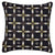 "Navajo Ethnic Geometric Pattern Linen Cotton Decorative Throw Pillow in Black 45x45cm (18x18"")"