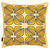 Nina Graphic Pattern Linen Cushion in Light Straw and Maize Yellow 45x45cm