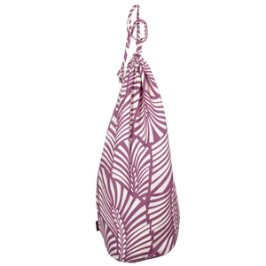 Oscar Leaf Pattern Linen Laundry & Storage Bag in Heather Pink