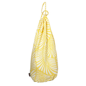 Oscar Leaf Pattern Linen Laundry & Storage Bags in  Lemon Yellow