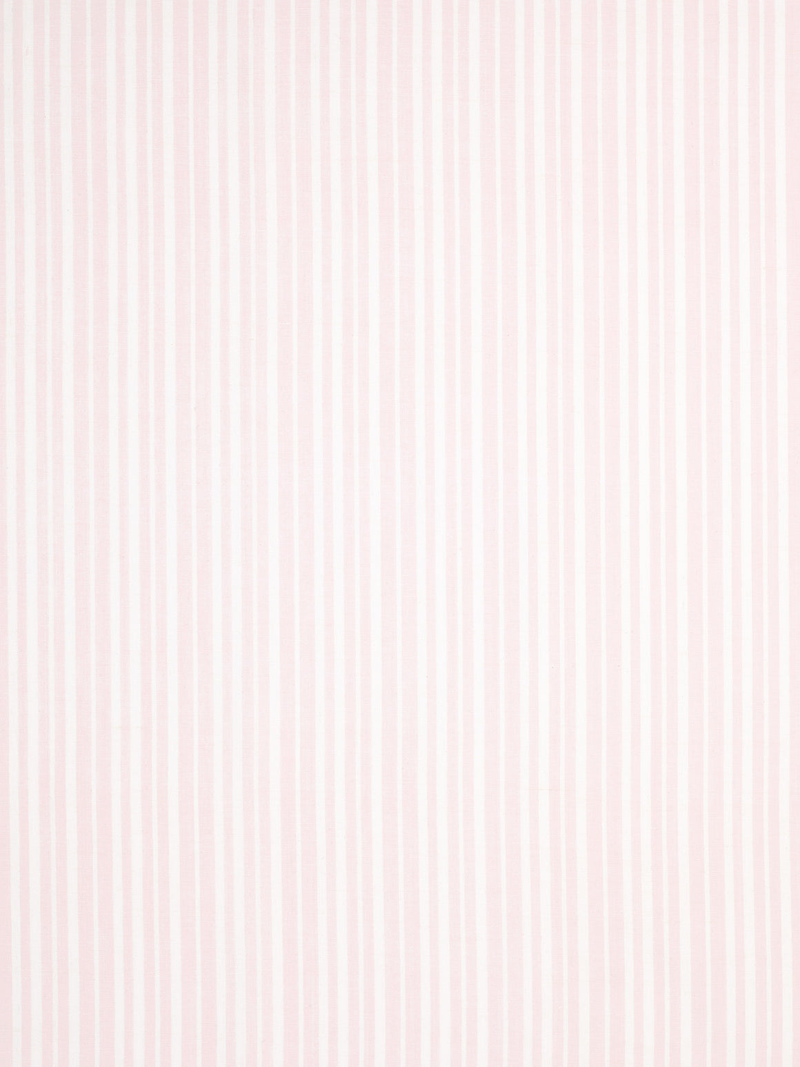 Palermo Ticking Stripe Cotton Linen Fabric by the Meter in Light Tea Rose Pink