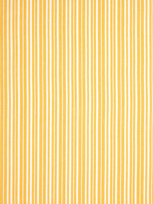 Palermo Ticking Stripe Cotton Linen Home Decor Fabric by the Meter or by the yard for curtains, blinds, upholstery in Bright Saffron Yellow ships from Canada (USA)