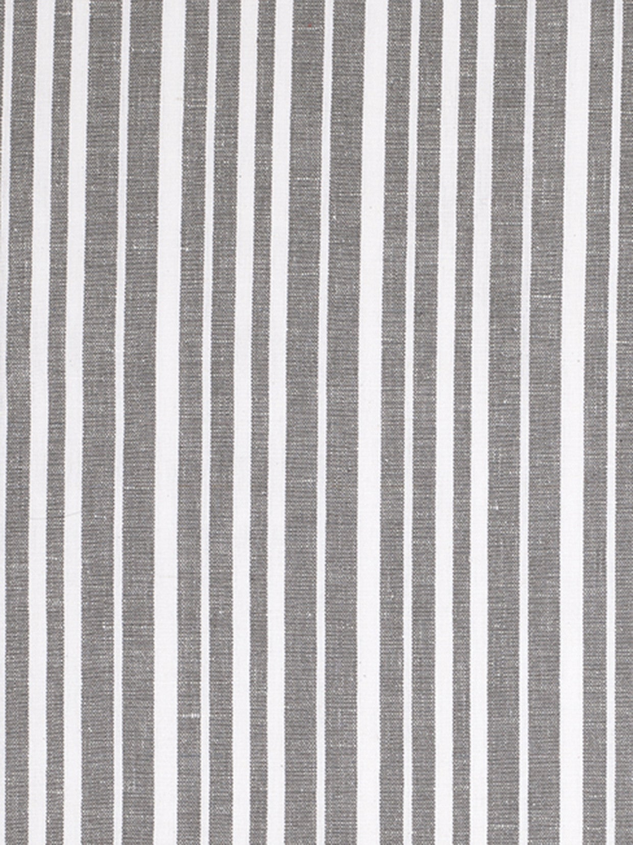 Palermo Ticking Stripe Cotton Linen Fabric by the Meter in Stone Grey
