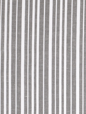 Palermo Ticking Stripe Cotton Linen Home Decor Fabric by the Meter or by the yard in Stone Grey for curtains, blinds or upholstery ships from Canada (USA)
