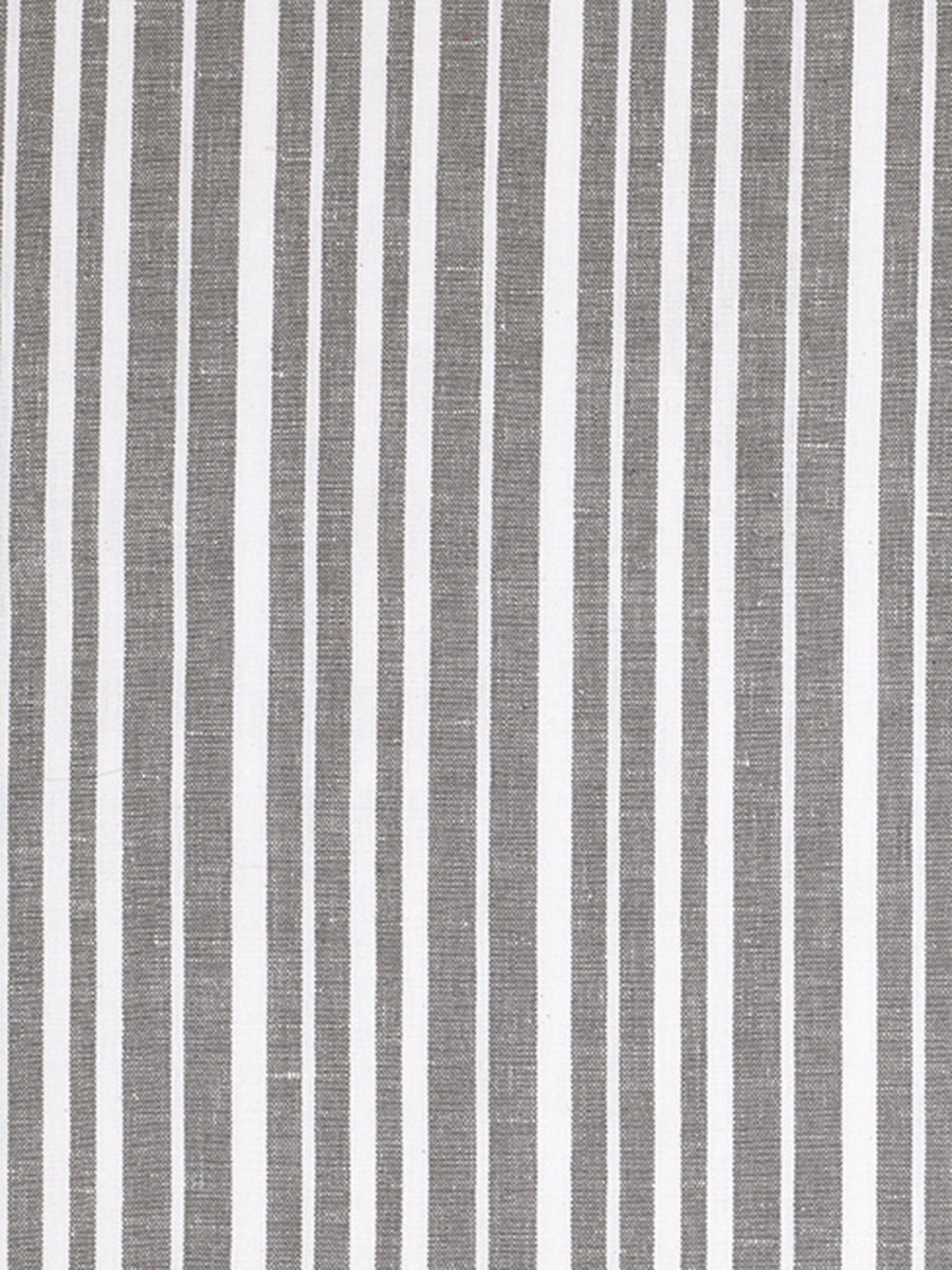 Palermo Ticking Stripe Cotton Linen Home Decor Fabric by the Meter or by the yard for curtains, blinds or upholstery in Stone Grey - ships from Canada (USA)