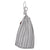 Palermo Ticking Yarn Dyed Stripe Cotton Linen Drawstring Laundry or storage bag in Stone Grey Ships from Canada (USA)