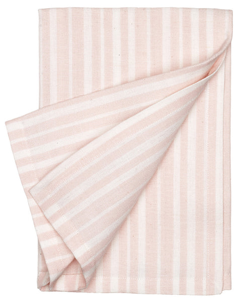 Palermo Ticking Stripe Linen Napkin - Light Pink