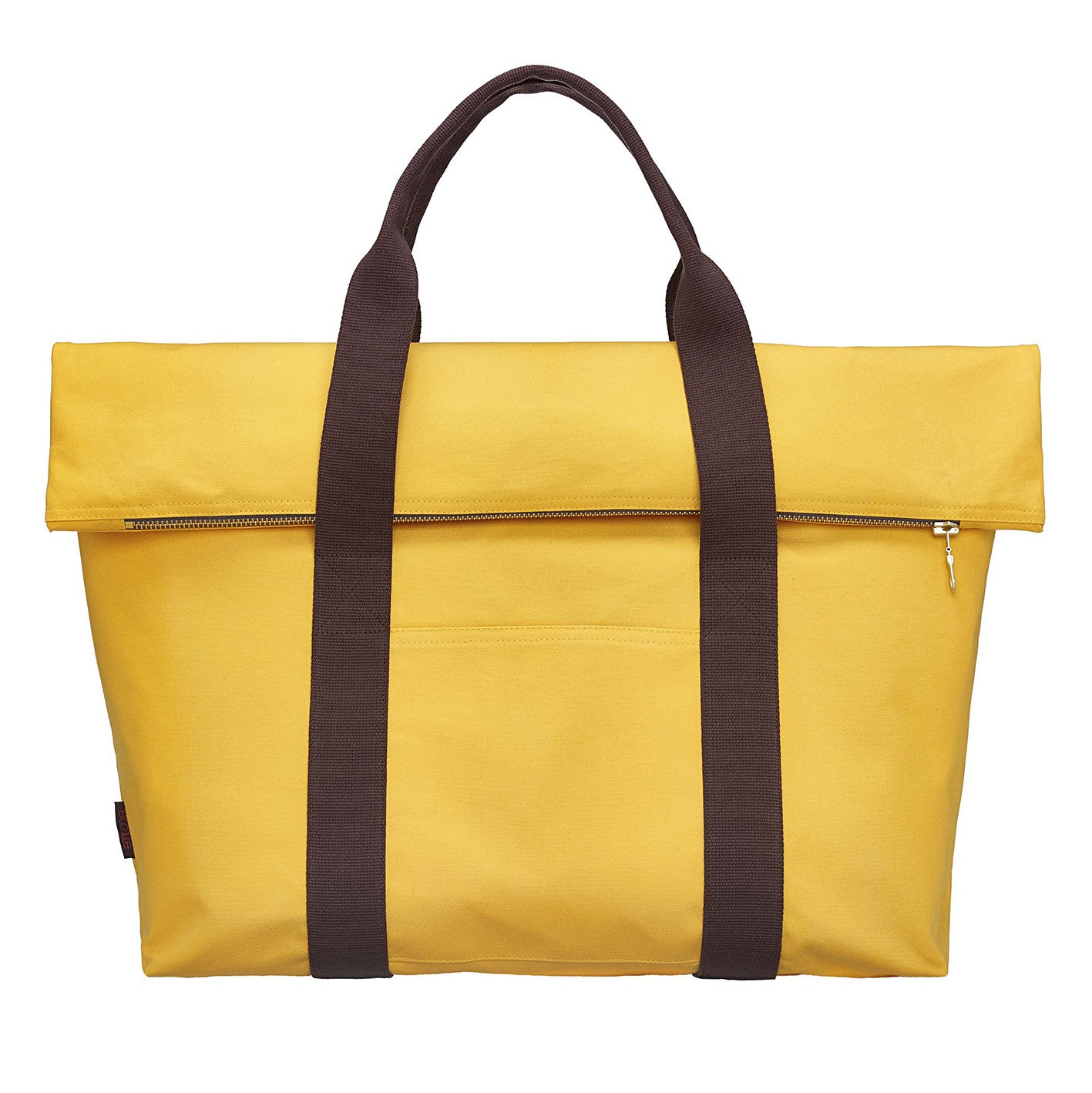 Paula Resin Coated Cotton Canvas Overnight Cabin Bag in Maize Yellow