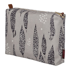 Black, white and grey patterned canvas etoile home vanity, toiletry, wash bag