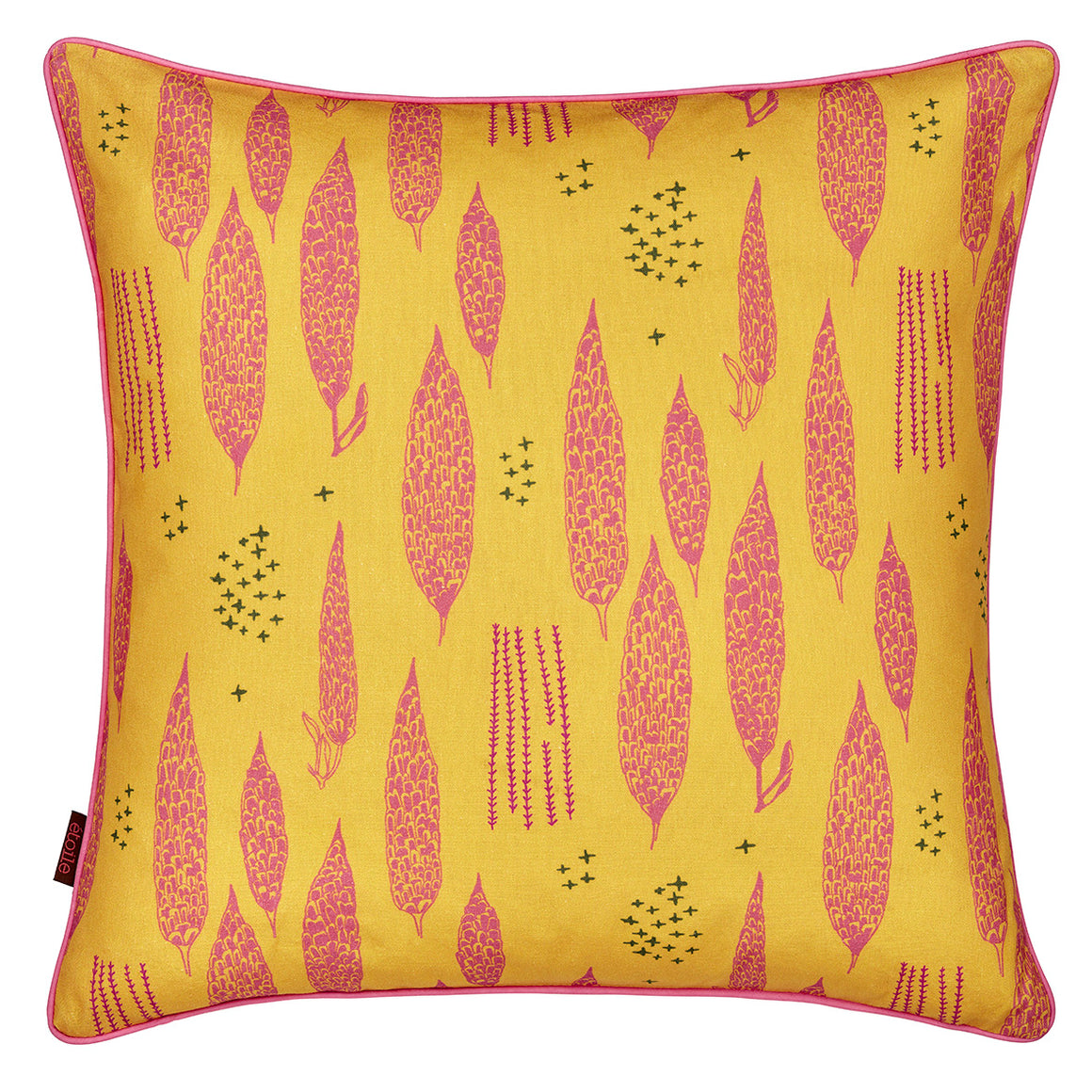 Poplar Throw Pillow - Mustard Yellow