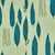 Graphic Rosemary Sprig Pattern Printed Linen Cotton Canvas Home Decor Fabric by the yard or the meter for blinds, curtains, upholstery in Light Eau de Nil Green and Turquoise Blue ships from Canada (USA)