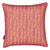 "Graphic Rib Pattern Linen Union Printed Decorative Throw Pillow in Coral Pink and Mustard Yellow 45x45cm (18x18"")"