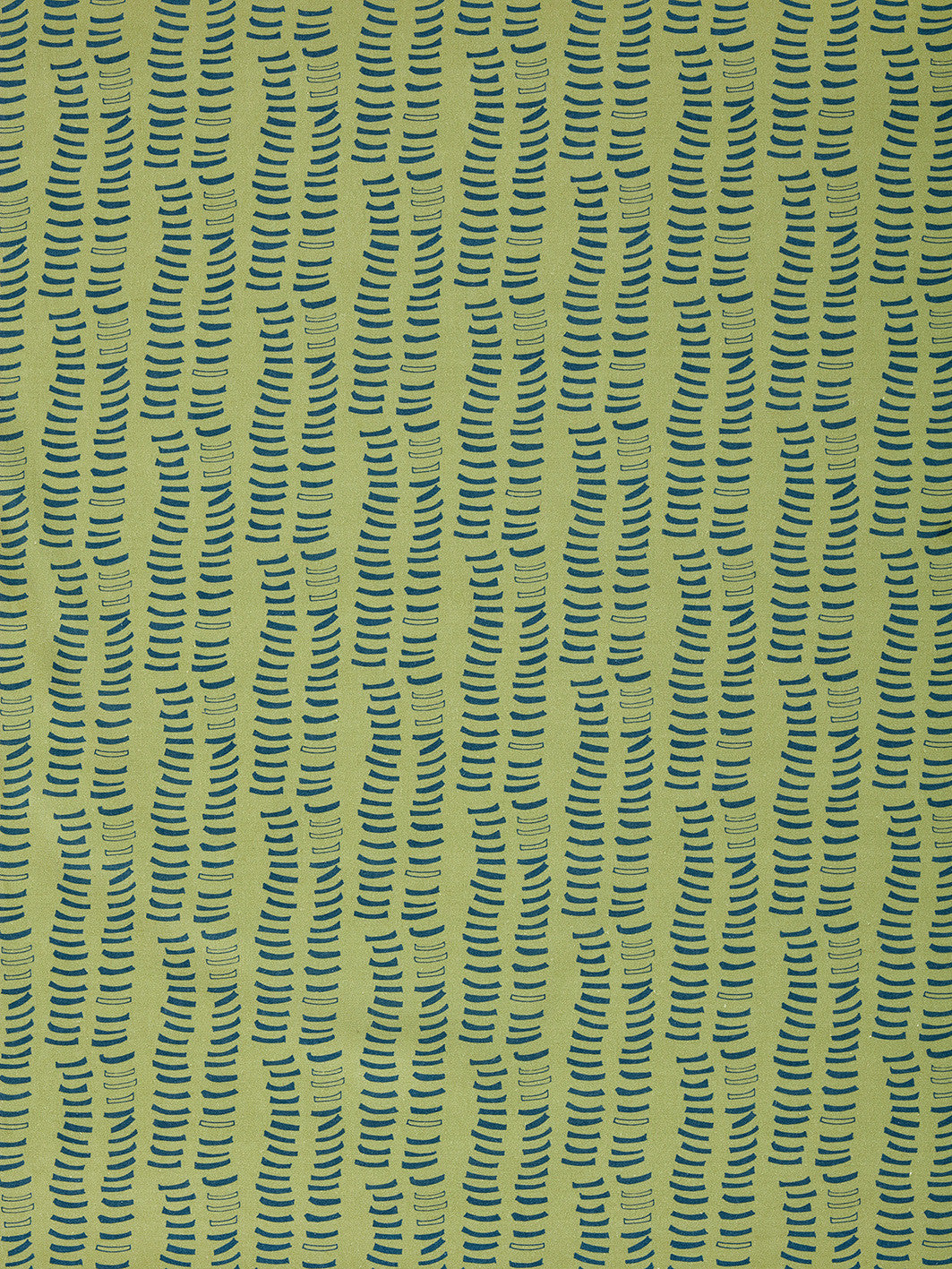 Graphic Rib Pattern Pattern Screen Printed Linen Cotton Canvas Home Decor Curtain blind upholstery Fabric in Antique Moss Green and Dark Petrol Blue Canada USA