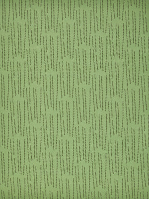 Graphic Rosemary Sprig Pattern Printed Linen Cotton Canvas Fabric in Light Avocado Green & Olive Green