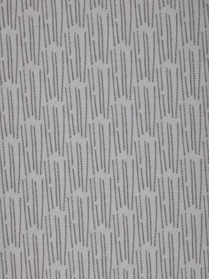 Graphic Rosemary Sprig Pattern Printed Linen Cotton Canvas Home Decor Fabric by the meter or yard in Light Dove Grey & Dark Stone Grey for curtains, blinds or upholstery ships from Canada (USA)
