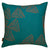 Stay Sails Pattern decorative Throw Pillow in Petrol Blue and Geranium Red ships from Canada worldwide including the USA