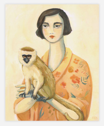 "A Lady and Her Monkey print by Emily Winfield-Martin, 11x14"" Ships from Canada Worldwide including the USA"