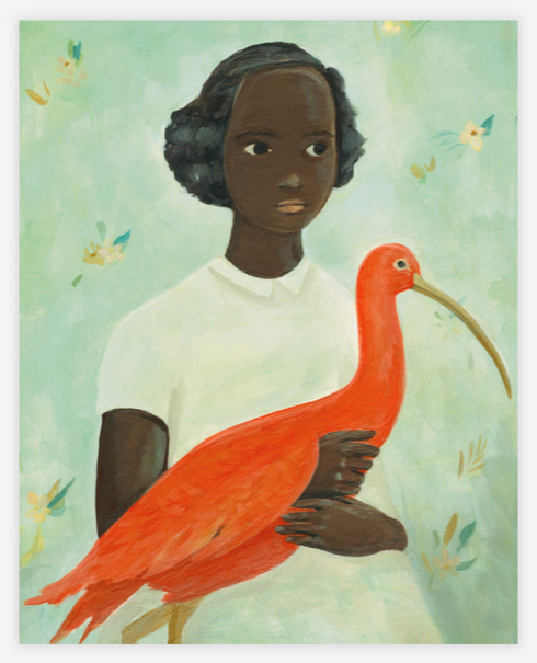 Girl with a Scarlet Ibis by Emily Winfield-Martin