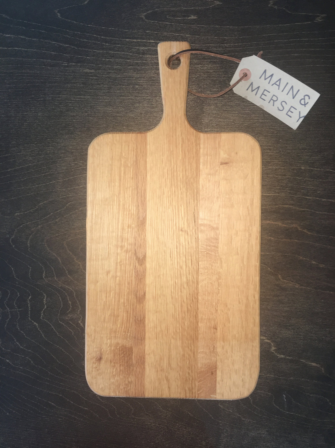 Small Oak Cutting Board with Handle Handmade in Nova Scotia