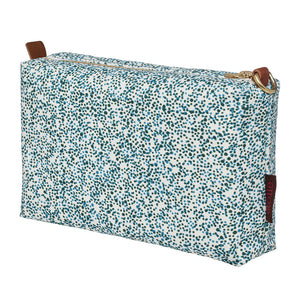 Multicolour Spot Pattern Printed Cotton Canvas Wash Bag