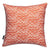 Waves-pattern-throw-pillow-terracotta-orange-ships-from canada worldwide including the USA