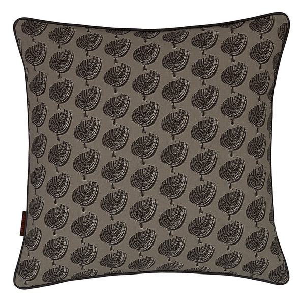 Apple Tree Cushion - Dove Grey/Black