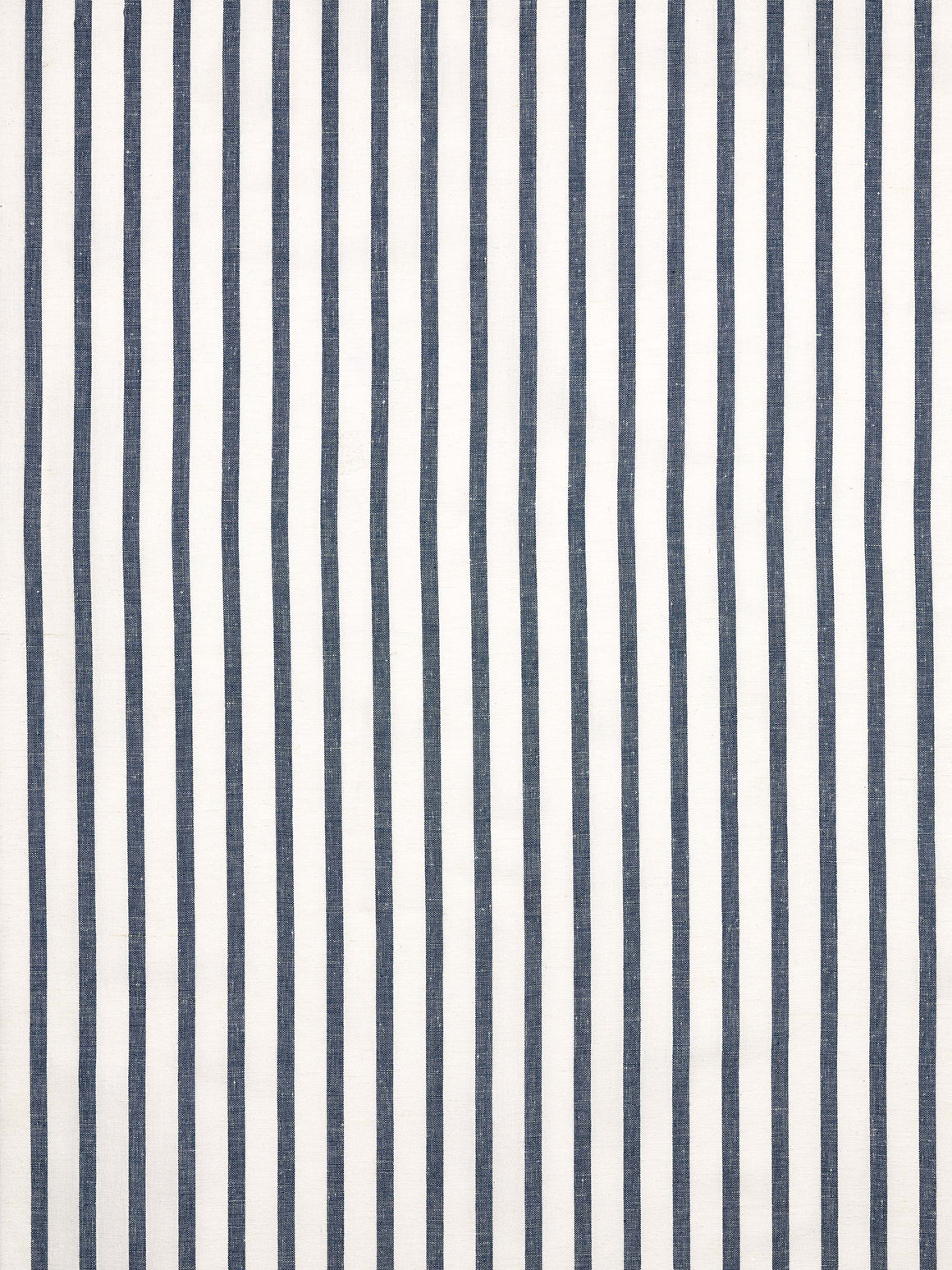 Autumn Ticking Stripe Cotton Linen Fabric by the Meter in Dark Petrol Blue