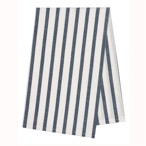 Autumn Stripe Tea Towel - Petrol Blue