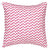 "Bunting Geometric Pattern Cotton Linen Decorative Throw Pillow  in Bright Fuchsia Pink 45x45cm (18x18"") ships from Canada worldwide including the USA"