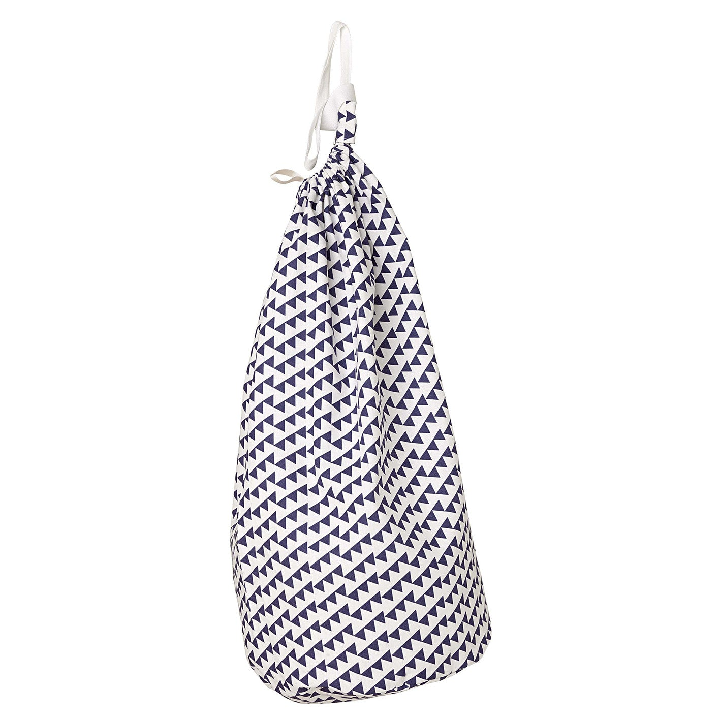 Bunting Geometric Pattern Linen Cotton Drawstring Laundry & Storage Bag in Dark Aubergine Purple ships from canada (USA)