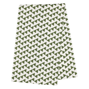 Bunting Tea Towel - Olive Green