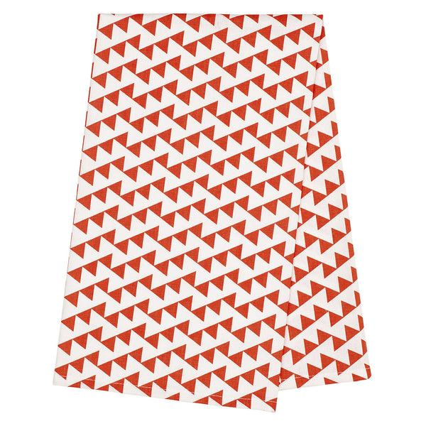 Bunting Tea Towel - Pumpkin Orange