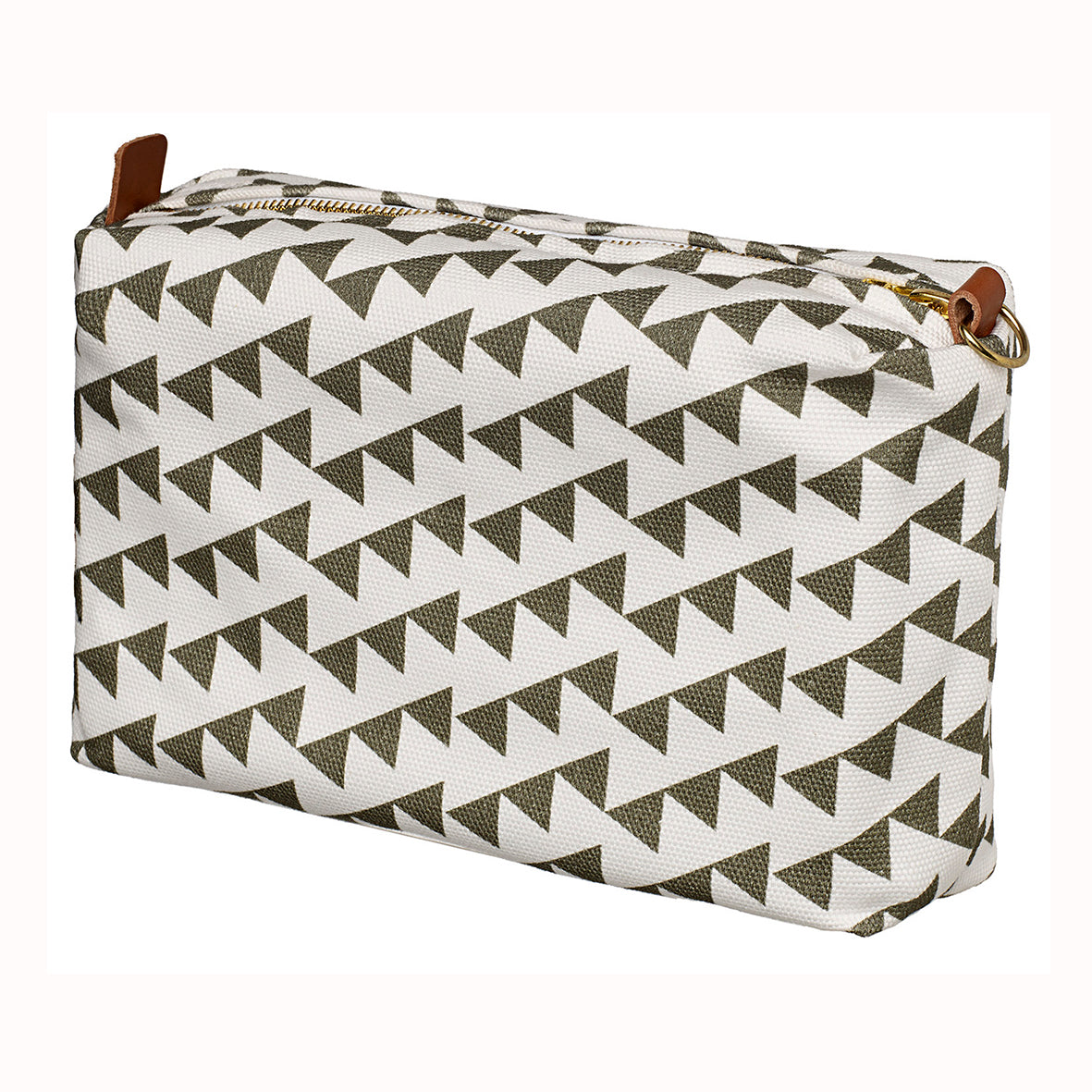 Bunting Geometric Pattern Canvas Wash Toiletry Travel, shaving kit & Cosmetic Bag - Olive Green Canada (USA)