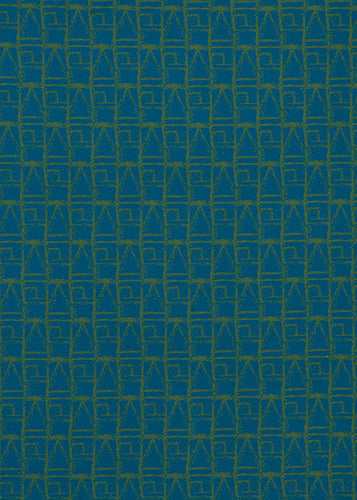 Buoy pattern home decor interiors fabrics for curtains, blinds and upholstery in Petrol Blue and Olive Green ships from Canada worldwide including the USA
