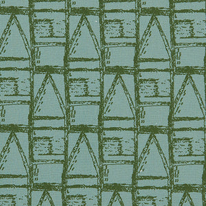 Buoy pattern home interiors decor fabric for curtains, blinds and upholstery in Sea Foam and Olive Green ships from Canada worldwide including the USA