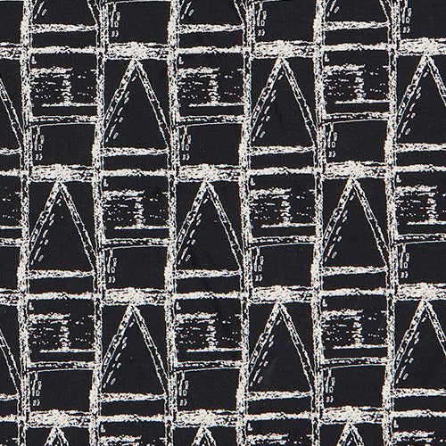 Buoy Home decor Interiors fabric for curtains, blinds and upholstery in black and white ships from Canada