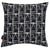 "Buoy pattern decorative throw pillow in Black and White ships from Canada worldwide including the USA 45x45cm (18x18"")"