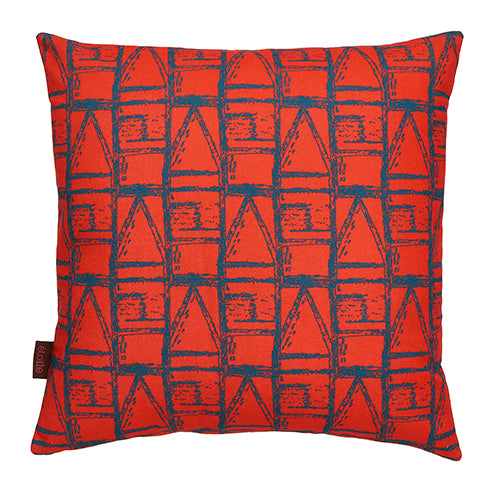 "Buoy-maritime-pattern-decorative-throw-pillow-geranium-red-petrol-blue-45x45cm-18x18""-canada-usa"