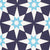 Cadiz Geometric Star Pattern Cotton Linen Fabric by the Meter in Dark Aubergine Purple and Turquoise
