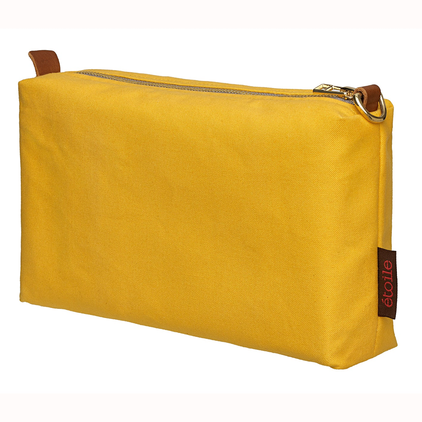 Water and Stain Resistant Cotton Canvas Wash, Toiletry, Cosmetic & Shaving Bag - Maize Yellow Ships from Canada (USA)