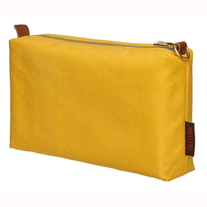 Water and Stain Resistant Cotton Canvas Wash, Toiletry & Shaving Bag - Maize Yellow Ships from Canada Perfect for cosmetics